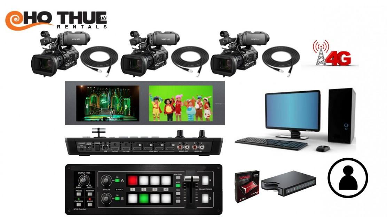 Trọn gói Nhân sự, Thiết bị và Kỹ thuật hệ thống Livestream 3 Camera PMW300: 11.000.000đ/3h